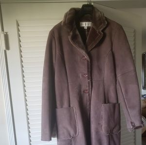 Full length coat with fur